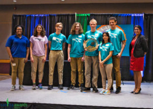 Zoo Crew accepts their award for Youth Volunteer Program of the Year