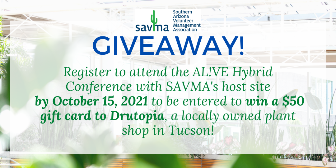 SAVMA Giveaway information